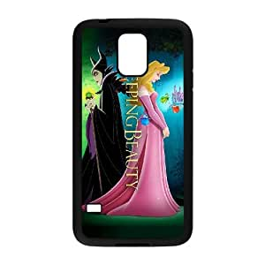 Unique Design -ZE-MIN PHONE CASE For Samsung Galaxy S5 -Sleeping Beauty-Maleficient Pattern 17