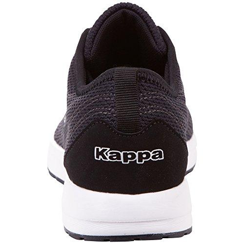 Kappa W 1110 black Para Negro white Mujer Vivid Zapatillas FFxq4r