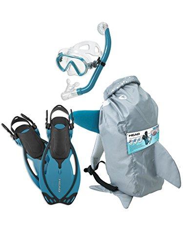 HEAD Mares Sea Pals Character Kids Mask Fin Snorkel Set, Aqua, (Coral Pals)