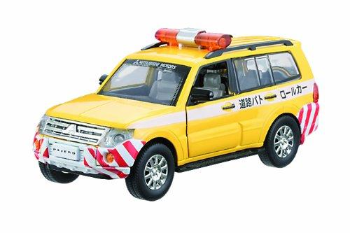 1/32 三菱パジェロ 道路パトロールカー(イエロー) 「プレイキャスト No.26」 ダイキャストカー