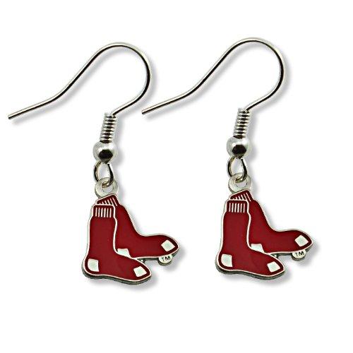 - MLB Boston Red Sox Logo Dangler Earrings