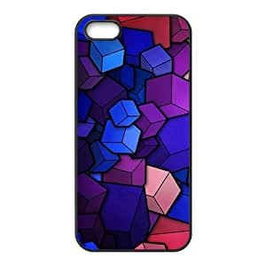 Colorful cube Phone Case for iPhone 5S(TPU)