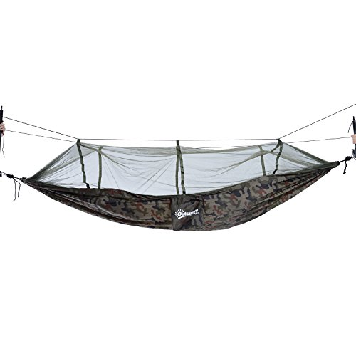 Outsunny Covered Hammock - Portable Outdoor Camping and B...