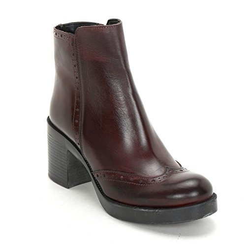 Stivaletti Rondine Coda E In Bordeaux Pelle Tacco Di Alesya Cm amp;scarpe Largo Scarpe Alti 7 By Con qySw8gtwf