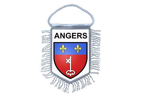 Akachafactory Fanion Mini Drapeau Pays Voiture Decoration Souvenir Blason France Angers
