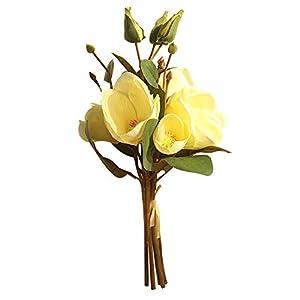 soAR9opeoF 1 Bouquet Artificial Flower Magnolia Garden DIY Stage Party Home Wedding Decor 93