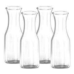 PRODUCT SPECIFICATIONS          34 OZ  High-Quality Glass Material  Narrow Neck Construction  Stylish Design for a Classic Presentation  Dishwasher Safe                 NO SPILLING CLEAR GLASS CARAFE               A narrow neck juice v...