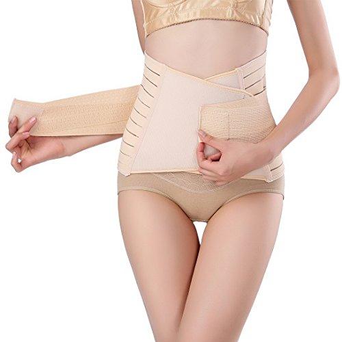 Feoya - Braguita Braga Moldeadora de Cinturón Alta que Adelgaza Abdominal Body Faja Reductora Braga para Mujer - Negro Beige- Talla única Color de piel