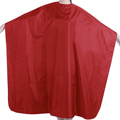Price comparison product image cici store 1Pc Professional Adult Waterproof Salon Hair Cut Hairdressing Barbers Cape Gown Cloth (Red)