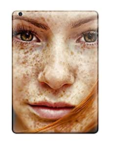 NadaAlarjane Awesome Case Cover Compatible With Ipad Air - Beautiful Freckled Redhead Girl Photo