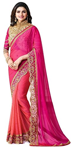 Jay Sarees Most Beautiful Georgette Designer Saree with unstitched blouse -VF18067 by JAY SAREES