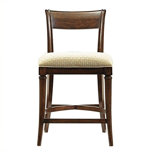 Bar Stool Chrome Avalon - Stanley 193-11-72 Avalon Heights Tempo Counter Stool, Chelsea Finish