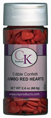 Confetti Jumbo Red Hearts 2.4 oz. CONJRH ()