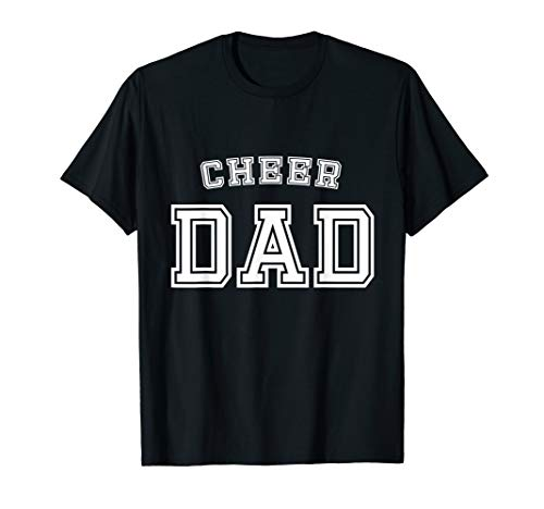 Cheer Dad Team Squad Cheerleader Father Cute Funny T-Shirt
