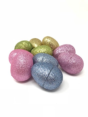 Easter Eggs, Assembled Eggs, 10 count, 2.5 inches (Glitter)