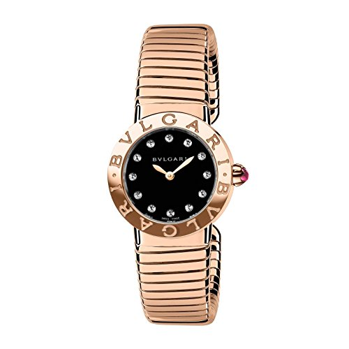 Bvlgari Bvlgari Black Lacquered Dial 18K Rose Gold Diamond Small Ladies Watch 102225