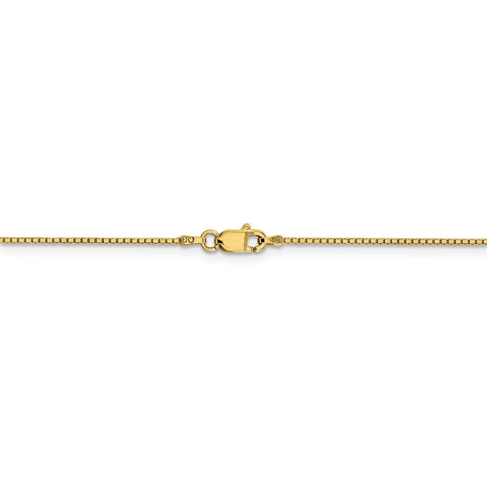 14k Yellow Gold .95mm Solid Box Anklet 9inch Fine Jewelry Ideal Gifts For Women