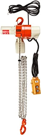 "Harrington ED Dual Speed Electric Chain Hoist, Single Phase, Hook Mount, 125 lbs Capacity, 10' Lift, 69 fpm Max Lift Speed, 0.4 HP, 12.4"" Headroom, 1"" Hook Opening, 120V"