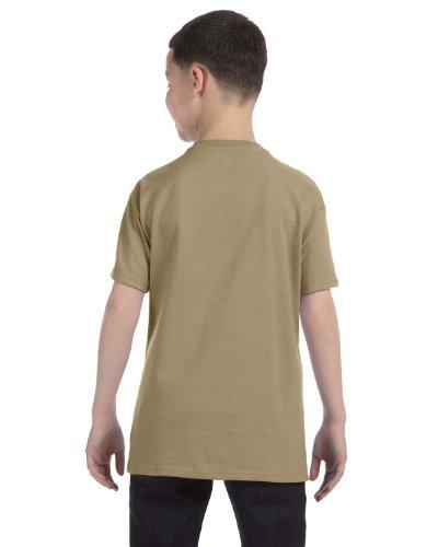 Jerzees Youth 5.6 oz., 50/50 Heavyweight Blend T-Shirt, XL, KHAKI (Heavyweight Blend Youth Jerzees)
