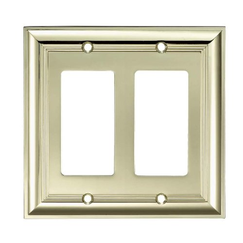"DIM allen + roth 5""W x 4""H Polished Brass Decorator Rocke..."