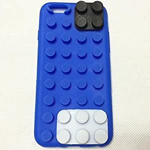 DDL Building Blocks Pattern Silicone Cover for iPhone 6 (Assorted Colors) , Purple