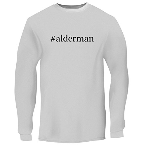 Shirts Men Dales Brian (BH Cool Designs #Alderman - Mens Long Sleeve Graphic Tee, White, X-Large)
