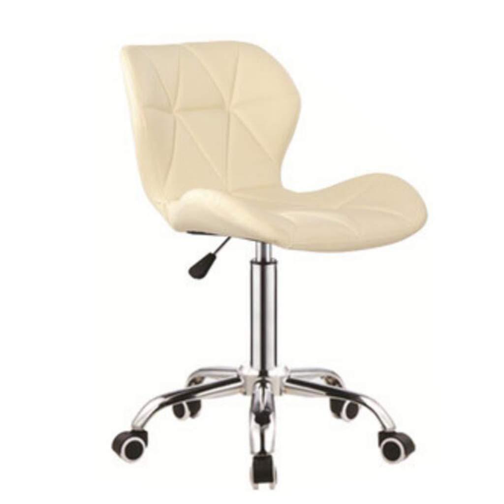 Beige B A-Fort DLDL Bar seat Lift Stool Fashion swingable Simple Mobile Home Office Chair (color   Beige, Size   C)