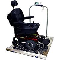 Tree Scales Portable Large Digital Wheelchair and Drum Scale - 800 Lbs X 0.2 Lbs