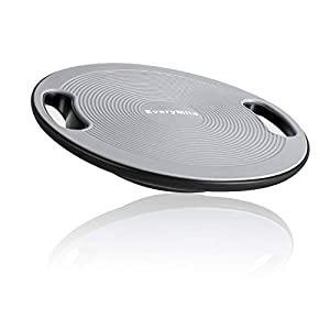 EveryMile Wobble Balance Board, Exercise Balance Stability Trainer Portable Balance Board with Handle for Workout Core Trainer Physical Therapy & Gym 15.7″ Diameter No-Skid Surface