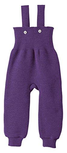 Disana 100% Organic Merino Wool Knitted Trausers/Pants Made In Germany (0-3 Months, Plum) (Baby Merino Wool)