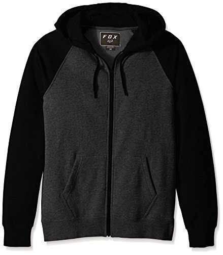 - Fox Men's Standard Fit Legacy Logo Zip Hooded Sweatshirt, Black/Charcoal, XL