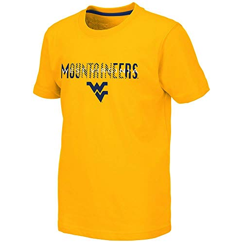 (Colosseum Youth WVU West Virginia Mountaineers Tucuman Short Sleeve Tee Shirt - M)