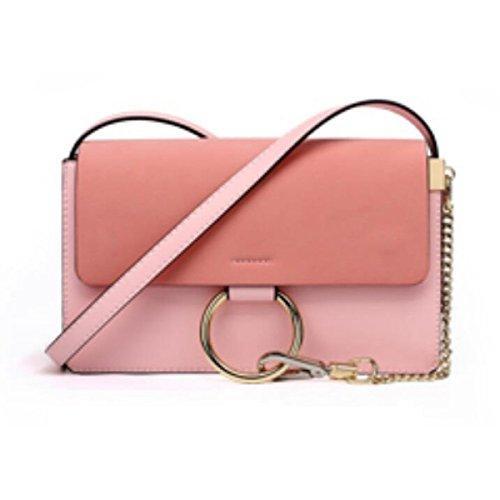 Bolso De Hombro Bolsa De Mensajero Bolso De Mano De La Moda Bolso Pequeño Cuadrado,Pink Pink