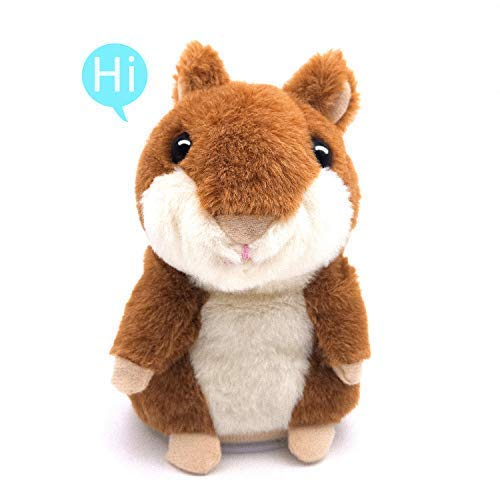 Cheeky Dog - Talking Hamster, Repeats What You Say Plush Animal Toy Electronic Hamster Mouse for Boys, Girls & Baby Gift .