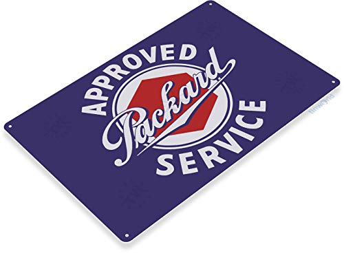 "Tinworld TIN Sign 12"" x 18"" Packard Service Metal Decor, used for sale  Delivered anywhere in USA"