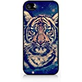Galaxy Hipster Indie Tiger Hard Plastic Case for Iphone 4/4s