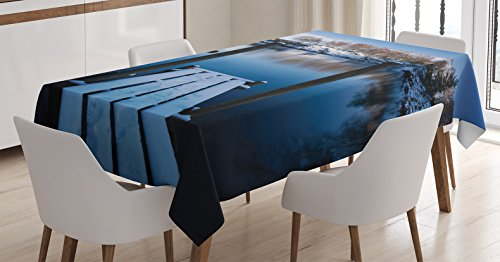 Ambesonne Tablecloth Northern Rectangular Kitchen