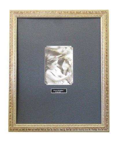 Guest Signature Antique Silver Frame #A2 / Black OR White Mat / Vertical OR Horizontal / 16