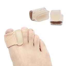 2Pcs Bunion Toe Separator Foot Care Tool -Gel Hallux Valgus Correction -Toe Straightener Separators-Pro Stretchers Bone Thumb Massage-For Men & Women