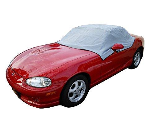 North American Custom Covers Compatible Soft Top Roof Protector Half Cover for Mazda Miata MX5 Mk1 Mk2 Mk2.5