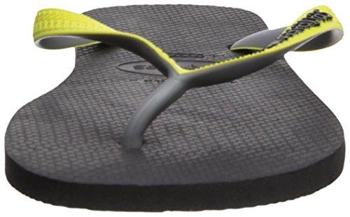 Havaianas Menns Topp Blande Sandal Sort / Neon Gul Svart / Neon Gul