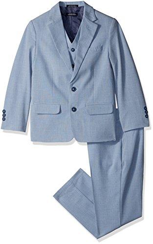 Nautica Three Piece Suit with Jacket, Pant, and Vest, Medium Blue, 14