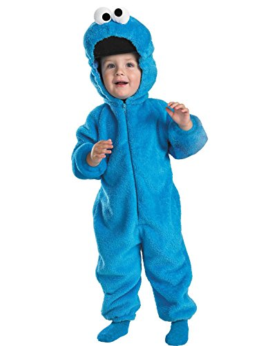 Cookie Monster Deluxe Two-Sided Plush Jumpsuit Costume - Small (2T) -