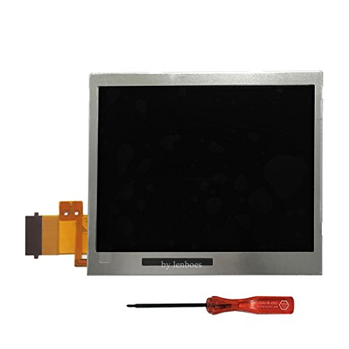Lenboes Original Bottom Lower LCD Screen Display Replacement for Nintendo DS Lite DSL NDSL with Opening (Nintendo Ds Replacement Parts)