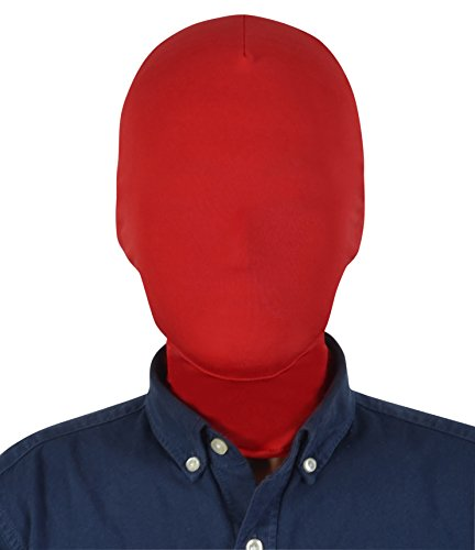 Sheface Spandex Costume Full Cover Hood Masks for Adults and Kids (Kids, Red)