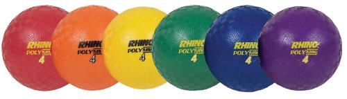 Champion Playground Ball (Champion Sports Rhino Poly Playground Ball Set (Multi, 4-Inch Diameter))