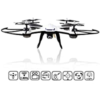 RC Quadcopter, KELIWOW FPV RC Drone with 720P HD Camera WiFi Live Video 4 Channel 2.4GHz 6-Gyro Radio Controlled Copter with Altitude Hold and Headless Mode RTF, White+Black