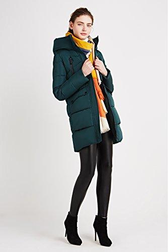 Verde Cappotto Invernali Donna Abbigliamento Inverno Piumino Incappucciato Lungo Icebear giacca PqHRdHz