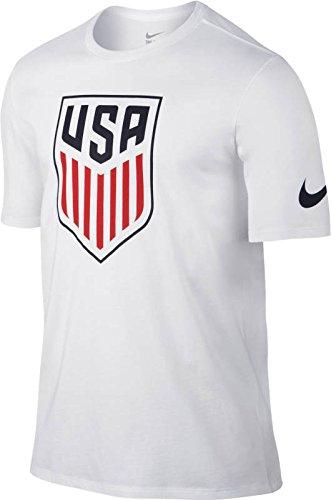 Us Soccer T-shirts (Nike United States Crest Soccer T-Shirt (Large) White)