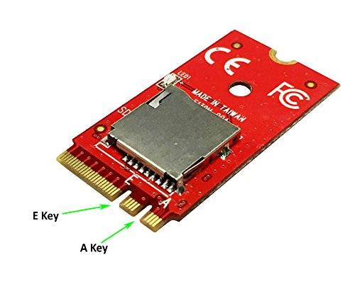 Ableconn M2SD139PA M.2 A-E Key Module with Micro SD Socket - Support Micro SD 3.0 (SDXC) via Fast PCIe ()